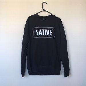Oversized Black Sweatshirt